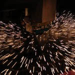 A laser cutter and mild steel material