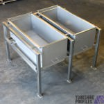 Stainless steel assembly for food industry