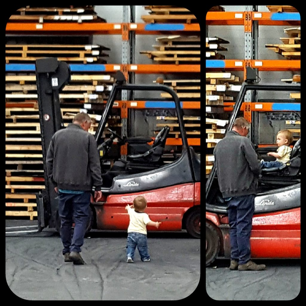 It didnt take much for Martin to get his Grandson interested in workshop activities (out of hours, of course.)